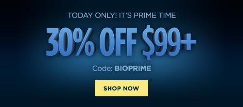 Bio Prime Day: 30% OFF $99 or more (code: BIOPRIME)