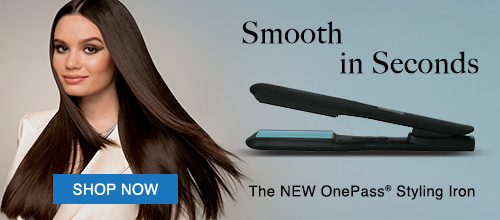 New One Pass Styling Iron in Black