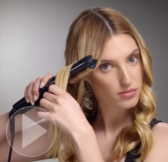 Flat iron curls tutorial video preview