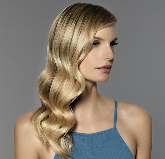 Hollywood Glamour Waves finished look